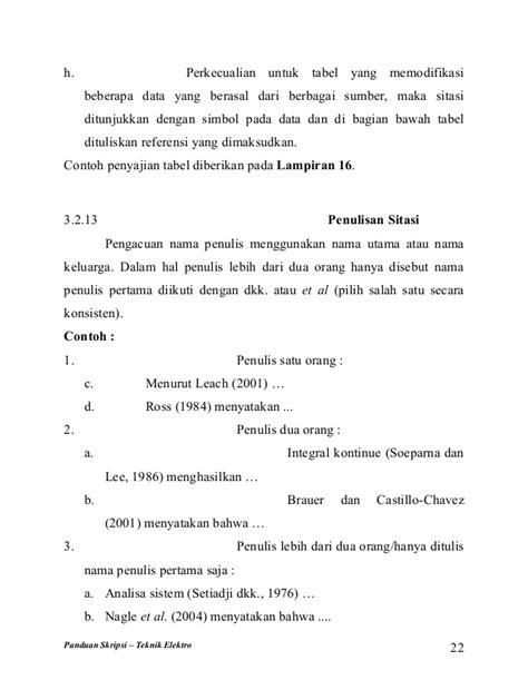 Format Penulisan Proposal Skripsi Teknik Elektro | buku panduan skripsi teknik elektro