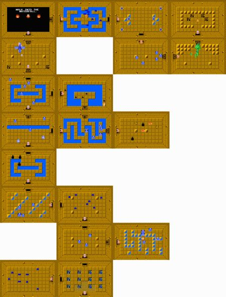 legend of zelda map level 6 level 4 first quest zeldapedia the legend of zelda