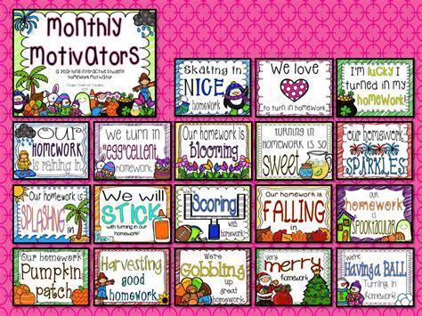 photo themes for each month tonya s treats for teachers homework monthly motivators