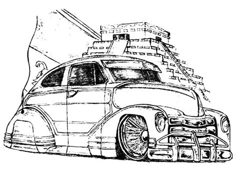 coloring pages of lowrider cars lowrider free coloring pages