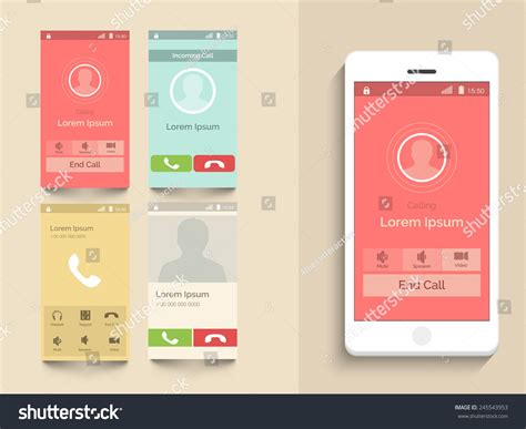 video call layout modern ui ux and gui template layout with different