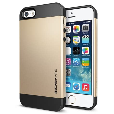 Iphone Murah jual spigen iphone 5 5s slim armor s chagne gold indonesia original harga murah