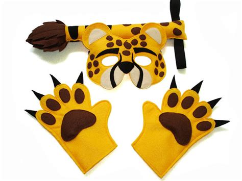 cheetah mask template children s safari animal cheetah felt mask and paws