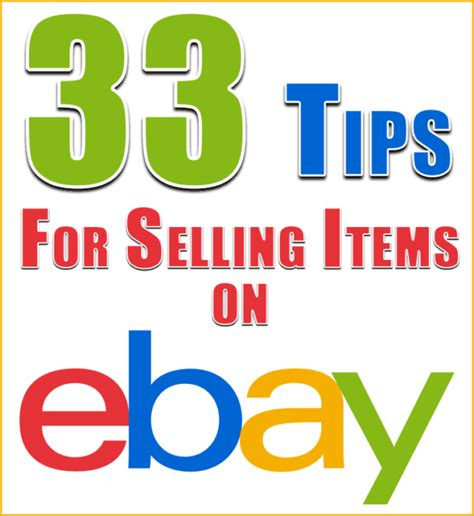 7 Tips On Selling Things by 33 Tips For Selling Items On Ebay Technically Easy