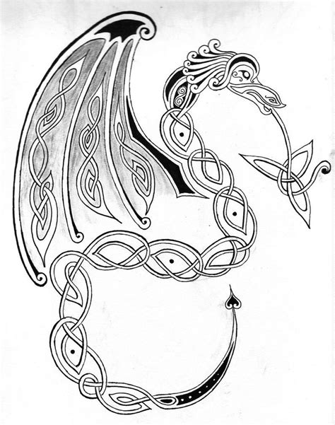 celtic dragon tattoo designs free celtic drawings celtic by wilykat13