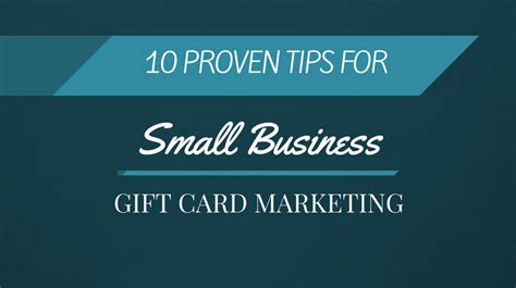 Gift Card Market Research - 10 proven tips for small business gift card marketing