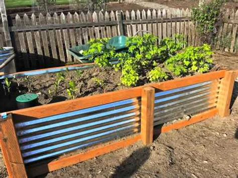 Raised Garden Beds With Corrugated Metal Sides