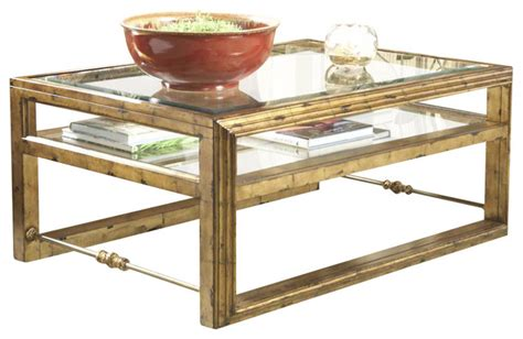 antebellum rectangular glass top cocktail table