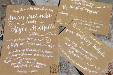 trendy wedding invitations ideas trendy typography wedding invitation suite with kraft paper background kraft wedding