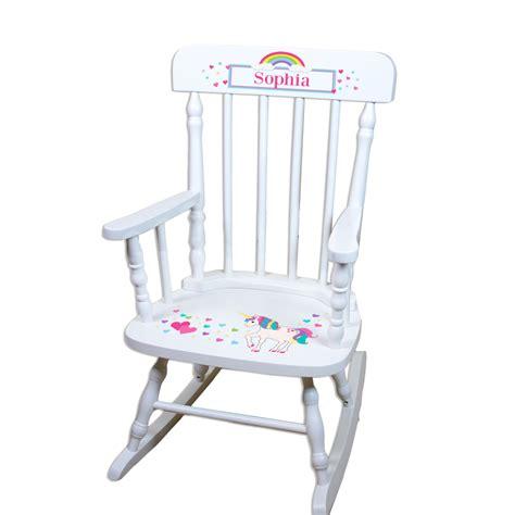 childs purple rocking chair personalized unicorn rocking chair custom childs rockers