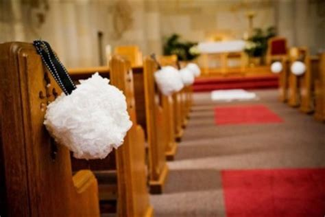 church bench decorations wedding longggggg church how are you decorating the pews