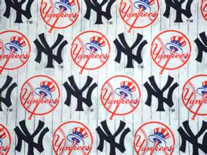 Red Sox Curtains Mlb New York Yankees Cotton Fabric One Yard 36 By