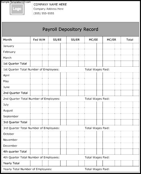 28 Images Of Payroll Record Form Template Infovia Net Individual Payroll Record Template
