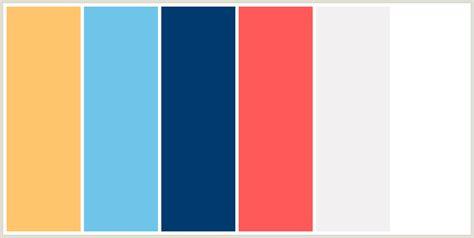 white blue color scheme colorcombo2326 with hex colors ffc56c 6ec5e9 003a6f ff5959 f2f1f1 ffffff