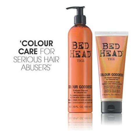 bed head colour goddess tigi bed head colour hair care dumb blonde colour goddess