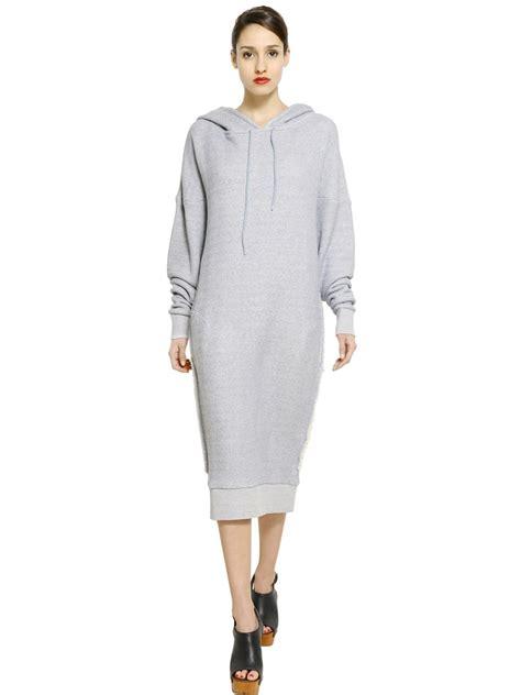 Sweatshirt Dress lyst mes demoiselles hooded cotton fleece sweatshirt