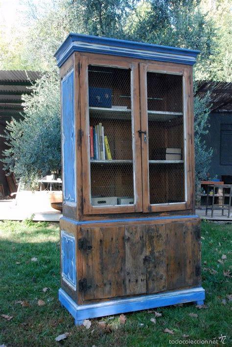 comprar alacena alacena azul comprar muebles vintage en todocoleccion