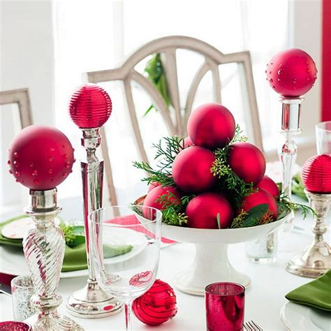 christmas decoration ideas 50 best diy christmas table decoration ideas for 2016
