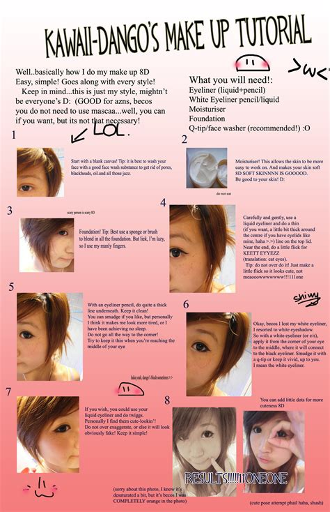 tutorial makeup kawaii make up tutorial by kawaii dango on deviantart