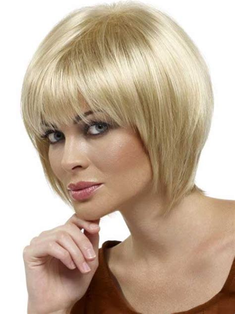 chin length layered bob with side bangs bob hair styles for double chin hairstylegalleries com
