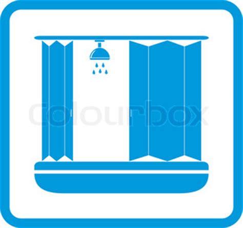 Klosett Mit Dusche by Symbol Der Badezimmer Mit Dusche Stock Vektor Colourbox