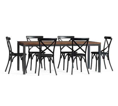 X Back Bistro Chair Dining Table X Back Bistro Chair Set Pottery Barn