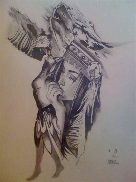 wolf girl tattoo wolf and stencil design tattooshunter