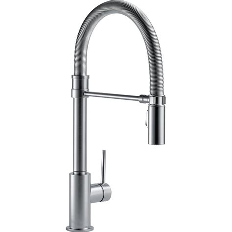 delta single handle kitchen faucet delta trinsic single handle pull sprayer kitchen