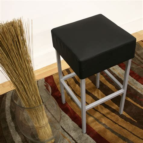 Black Faux Leather Counter Stools by Andante Faux Leather Counter Stool Black In Counter