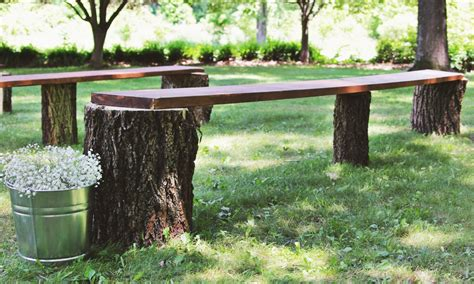 tree stump bench diy tree stump benches quot i do quot diys com