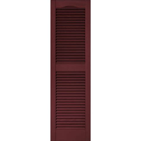 Louvered Exterior Shutters Doors Windows The Home Home Depot Exterior Shutters