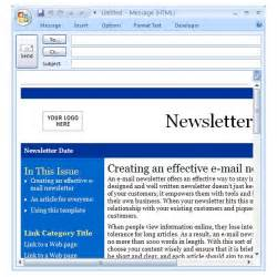 Outlook Template Newsletter by Downloading The Best Free Artist Templates For Cool Office