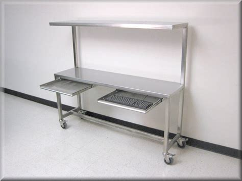 clean room work benches rdm stainless steel table with upper shelf model f103p ss