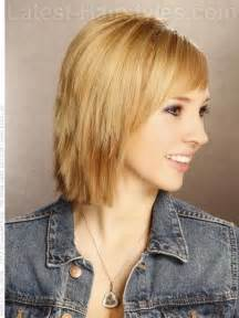 choppy bob haircut with fringe shoulder length choppy layered haircuts