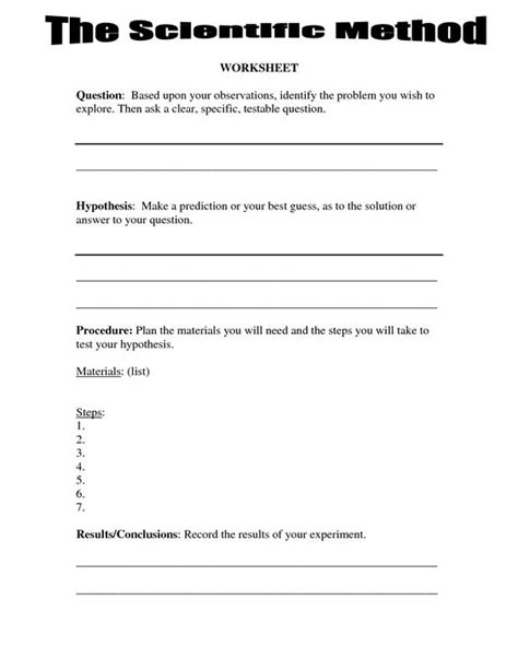 Free Fourth Grade Science Worksheets by 4th Grade Science Worksheets Scientific Method