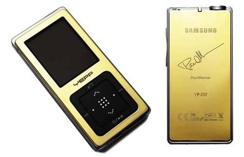 Blackwood 18k Gold Mp3 Player samsung yp z5 in 18k gold is up for auction