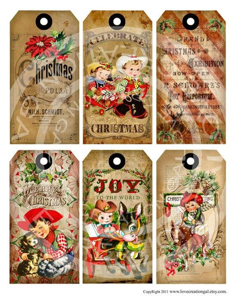cowboy christmas gift tags seasonal ideas pinterest