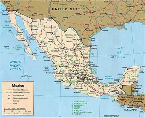 big map of mexico mexico political map 1 mapsof net
