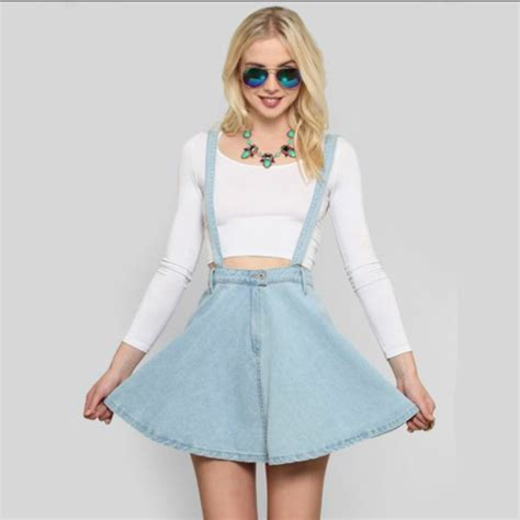 Overall Skirt Light Blue by Dress Skirt Skater Dress Skater Skirt Overalls