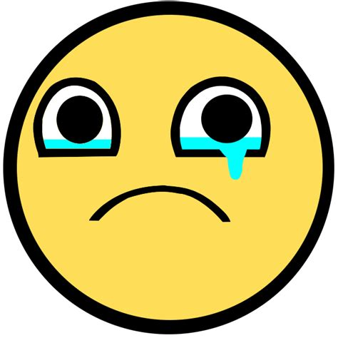 Sad Face Meme - crying smiley gif clipart best