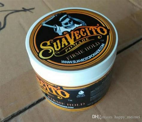 Pomade Happy suavecito pomade strong style restoring pomade hair wax big skeleton slicked back wax mud