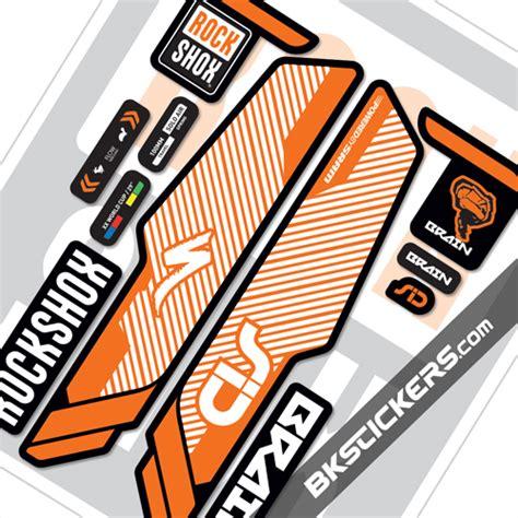 Rock Shox Stickers Orange by Rockshox Sid Brain 2014 Decals Kit Black Forks