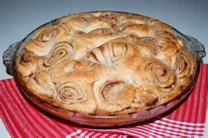 apple pie with cinnamon roll pie crust cooking mamas