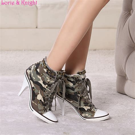 army pattern shoes women pointed toe camouflage army pattern green pumps high