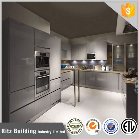 Grey Gloss Kitchen Cabinets by High Gloss Grey Lacquer Kitchen Cabinet Buy High Gloss