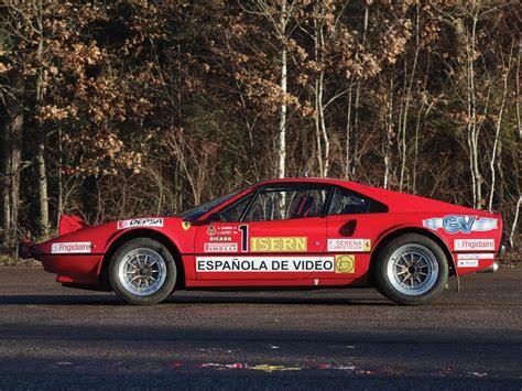rally ferrari ferrari 308 gtb group b rally car heading to auction
