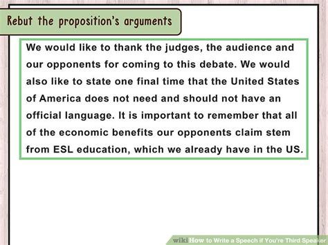 What Are The Duties Of The Speaker Of The House by 3 Ways To Write A Speech If You Re Third Speaker Wikihow