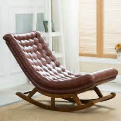 Lounge Chair Covers Design Ideas Modern Design Rocking Lounge Chair Leather And Wood For