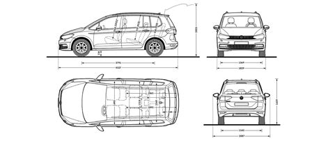 Vw Touran Interior Dimensions volkswagen touran sizes and dimensions guide carwow