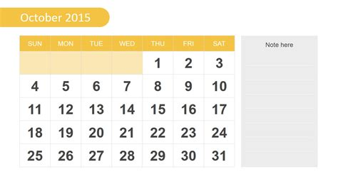 Free 2015 Calendar Template For Powerpoint Slidemodel Slidemodel Free Templates